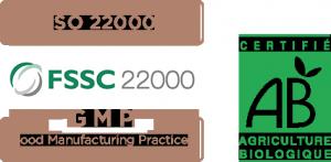 Certifications iso 22000 - FSSC 22000 - Agriculture Biologique